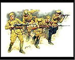 Soviet Infantry in Action Eastern Front 1941-42 -- Plastic Model Military Figure -- 1/35 -- #3523
