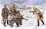 Russian Infantry Korsun-Shevchenkovskiy 1944 (5) -- Plastic Model Military Figure -- 1/35 -- #3529