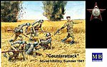 Counterattack Soviet Infantry Summer 1941 (6) -- Plastic Model Military Figure -- 1/35 -- #3563