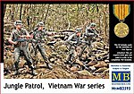 Jungle Patrol US Military Vietnam War (4) -- Plastic Model Military Figure -- 1/35 Scale -- #3595