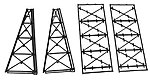 Tall Steel Viaduct Tower - Two 4-Story Bents -- Model Train Bridge -- N Scale -- #75176