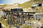 Tall Steel Viaduct Kit 210' -- Model Train Bridge -- HO Scale -- #75515