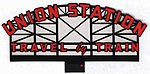 Union Station Animated Neon Billboard -- HO Scale Model Railroad Sign -- #3881
