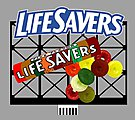 Life Savers Animated Neon Billboard -- HO Scale Model Railroad Sign -- #440852