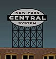 New York Central System Animated Neon Billboard Kit -- HO Scale Model Railroad Sign -- #4581