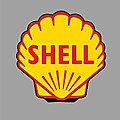 SHELL ROTATING SIGN -- O Scale Model Railroad Sign -- #55020