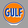 GULF ROTATING SIGN -- O Scale Model Railroad Sign -- #55025