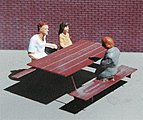 Picnic Tables Etched-Metal Kit (4) -- N Scale Model Railroad Accessory -- #609440