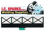 I.C. Sparks Large Animated Neon Billboard Kit -- Model Railroad Accessory -- #9381