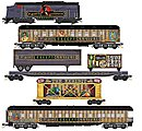 Halloween Train-Only Set -- Dr. Mort's Creepy Carnival - N-Scale