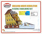 Building Under Demolition Kit -- N Scale Model Railroad Building -- #1500