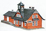 Comb. RR Station Kit -- N Scale Model Railroad Building -- #1501