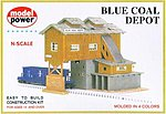 Blue Coal Depot Kit -- N Scale Model Railroad Building -- #1506