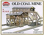 Old Coal Mine Kit -- N Scale Model Railroad Building -- #1552