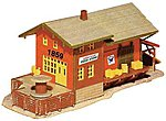 Freight Station -- N Scale Model Railroad Building -- #1576