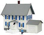 Sinatra's House Deluxe Built-Up -- N Scale Model Railroad Building -- #2554