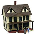 Haunted House Deluxe Lighted Built-Up -- N Scale Model Railroad Building -- #2556