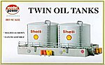 Twin Oil Tanks Kit -- HO Scale Model Railroad Building -- #308