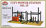 City Power Station Kit -- HO Scale Model Railroad Building Accessory -- #416
