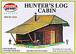 Hunter's Log Cabin Kit -- HO Scale Model Railroad Building -- #434
