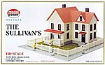 The Sullivan's House Kit -- HO Scale Model Railroad Building -- #488