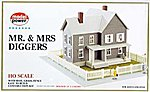 Mr. & Mrs. Diggers House Kit -- HO Scale Model Railroad Building -- #489