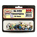 36 Painted Figures (people) -- HO Scale Model Railroad Figure -- #5799
