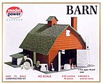 Country Barn Kit with Accessories -- HO Scale Model Railroad Building -- #601