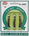 Boulevard Lamp Clear (3) -- N Scale Model Railroad Street Light -- #8482