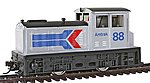 DDT Plymouth Industrial Powered Amtrak -- HO Scale Model Train Diesel Locomotive -- #96676