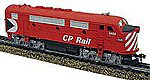 F2-A Dual Drive Powered w/Light Canadian Pacific -- HO Scale Model Train Diesel Locomotive -- #96810