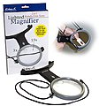Lighted Hands-Free Magnifier 1.5x & 3x Power w/Lanyard