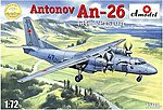 Antonov An26 Russian Military Cargo Aircraft -- Plastic Model Airplane Kit -- 1/72 Scale -- #72118