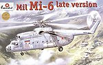 Mil Mi6 Late Version Soviet Helicopter -- Plastic Model Helicopter Kit -- 1/72 Scale -- #72131