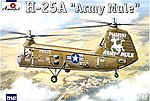 H25A Army Mule USAAF Helicopter -- Plastic Model Helicopter Kit -- 1/72 Scale -- #72147