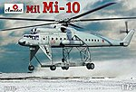 Mil Mi10 Helicopter -- Plastic Model Helicopter Kit -- 1/72 Scale -- #72172