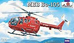 MBB Bo105 Rescue Helicopter -- Plastic Model Helicopter Kit -- 1/72 Scale -- #72255