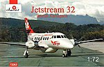 Jetstream 32 British Airliner -- Plastic Model Airplane Kit -- 1/72 Scale -- #72262
