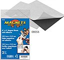 4'' x 6'' Flexible Magnetic Sheets w/Adhesive (2)