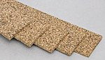 Cork Roadbed 3' (5) -- Model Train Track Roadbed -- HO Scale -- #3015