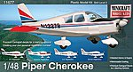 Piper Cherokee Plane -- Plastic Model Airplane Kit -- 1/48 Scale -- #11677