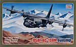 USAF C130 Hercules Gunship -- Plastic Model Airplane Kit -- 1/144 Scale -- #14537