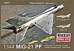 MIG 21 -- Plastic Model Airplane Kit -- 1/144 Scale -- #14677