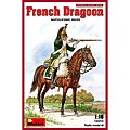 French Dragoon Napoleonic Wars -- Plastic Model Military Figure -- 1/16 Scale -- #16016