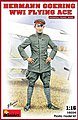 Hermann Goering WWI Flying Ace (New Tool) -- Plastic Model Military Figure -- 1/16 Scale -- #16034