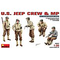 US Jeep Crew & MP (5) -- Plastic Model Military Figure -- 1/35 Scale -- #35047