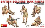 British Soldiers Tank Riders -- Plastic Model Military Figure -- 1/35 Scale -- #35071