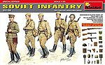 Soviet Infantry (5) with Weapons & Equipment -- Plastic Model Military Figure -- 1/35 -- #35108