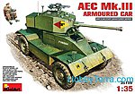AEC MK3 Armoured Car - Plastic Model Tank Kit - 1/35 Scale - #35159s
