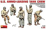 US Ammo-Loading Tank Crew (5)(New Tool) -- Plastic Model Military Figure Kit -- 1/35 Scale -- #35190